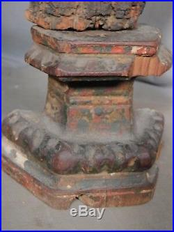 15 Carved Painted 18th c. Santo 1700s Mexico Folk Art Grungy OLD Surface Early