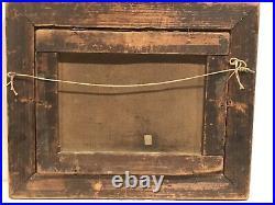 1860S American Folk Art Primitive Still Life Peaches And Grapes Original Frame