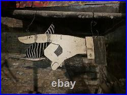 1900s Pointing Finger Trade Sign Hand Painted Folk Art Advertising Primitive