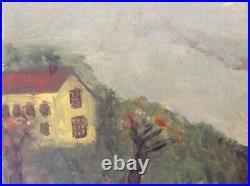 19th Century Antique Oil Painting AMERICAN FOLK ART MARYLAND Nautical Boat c1851