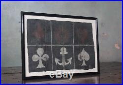19th Century Crown & Anchor Sailor Game Betting Folk Art Antique Curio Unusual