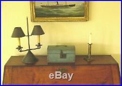 19th Century Document Box in Wonderful Dry Oxidized Blue Paint Folk Art AAFA