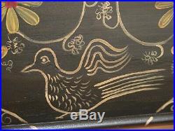 31208EC Pennsylvania Dutch Folk Art Paint Decorated Blanket