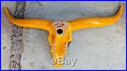 44 XL STEER SKULL bull longhorn hand-painted talavera mexican ceramic folk art