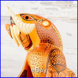 A1315 Bear Alebrije Oaxacan Wood Carving Painting Handcrafted Folk Art Mexi