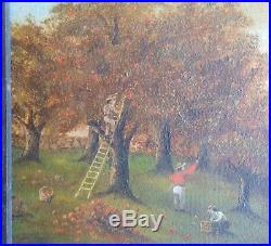 AAFA 1800s 19th C. Folk Art Country Primitive Americana Painting Board