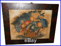 AAFA 1800s American Antique Folk Art Theorem Naive 19th C