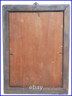 AAFA 1800s Folk Art Antique Sampler Fraktur Theorem Paint Decorated Frame