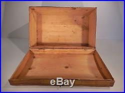 AAFA 19th c Paint Decorated Wedding Box Antique Folk Art Painted Pine Box