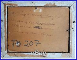 AAFA Antique Folk Art Naive Painting Board Moosehead Lake ME