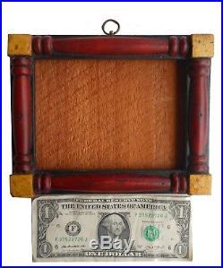 AAFA early 1800s Antique PA Folk Art Block Frame Sampler Fraktur paint