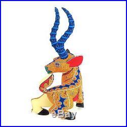 ANTELOPE Oaxacan Alebrije Wood Carving Mexican Folk Art Sculpture Painting