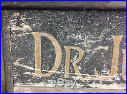 ANTIQUE FOLK ART 1890s DR JULIAN ELY WOOD PAINTED TRADE ADVERTISING DOCTOR SIGN