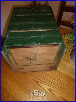 ANTIQUE multi DRAWER PRIMITIVE APOTHECARY with OLD GREEN Paint. FOLK ART