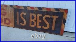 Aafa Antique Folk Art Advertising Trade Sign Lone Star Dog Food Original Paint