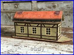 Aafa Antique Folk Art Noah's Ark Toy Boat Animals Putz German Original Paint