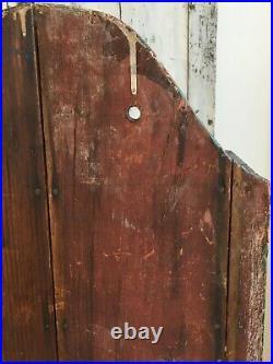 Aafa Early Folk Art Antique Primitive Wall Cabinet Cupboard Old Blue Paint