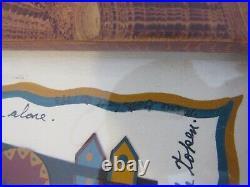 Aafa Folk Art Fraktur Watercolor M Gottshall Grain Frame Lancaster Original Art