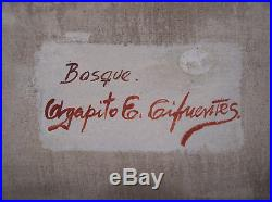 Agapito Labios Original Oil Painting Mexican Folk Art Signed