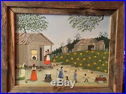 Alice Hines Original Oil Painting 1988 FOLK ART