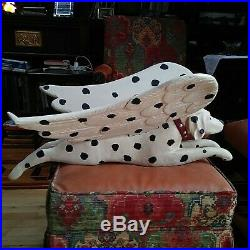 American Stephen Huneck Folk Art Early Carved & Painted Wood Large Flying Dog