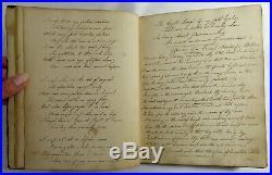 Antique 1826 MANUSCRIPT POETRY FOLK ART JOURNAL Handwritten PAINTINGS Sketchbook