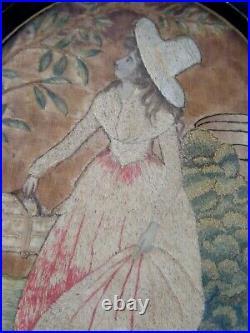 Antique 18th Century Folk Art Needlework Picture