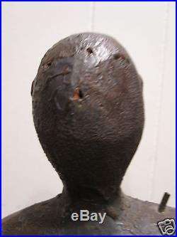 Antique Afro Caribbean Or African Folk Art Figural Carving Paint Museum Quality
