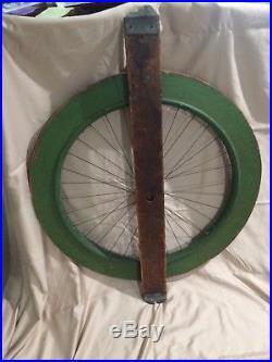 Antique Carnival Game of Chance Gambling Wheel Hand Painted Wood Folk Art Rare