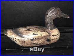 Antique Early 20thC American Folk Art Carved & Painted Working Decoy NR