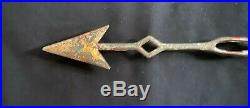 Antique Folk Art Painted Weathervane Arrow Directional Gold Leaf