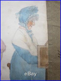 Antique Folk Art Painting c. 1820 MONCKTON Group Parlour PORTRAIT PROVENANCE