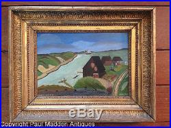Antique Folk Art Painting of Martha's Vineyard John Enos