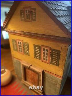 Antique Gottschalk 1800s Folk Art Doll House /Animal Cage Original Paint