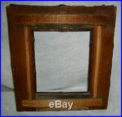 Antique Primitive Birchbark Twig Cabin Folk Art Andirondack Picture Mirror Frame