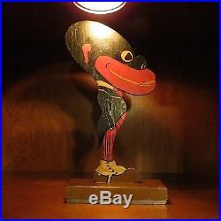 Antique RARE Black Americana Folk Art Wooden Hand Painted Figurine 100 Years Old