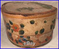 Antique Swedish Or German Folk Art Painted Brides Box