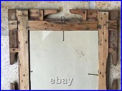 Antique Tramp Art/Folk Art picture frame Excellent Workmanship