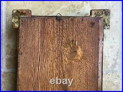 Antique Tramp Art/Folk Art picture frame/mirror with13-layer pyramid decoration