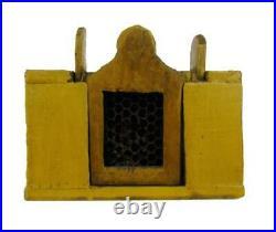 Antique c. 1900 QUEEN BEE BOX YELLOW PAINT AAFA Primitive Folk Art Apiary Honey