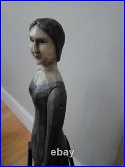 Antique decorative Folk Art Santos Cage Doll. Painted wood. Beautiful 24 tall