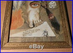 Antonio Romano (1953-2017) Listed Artist E-scribble American Folk Art Painting