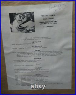 Arlene Fisher Signed Original 1992 Lancaster County PA Farm Oil on Board