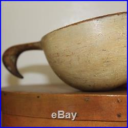Authentic Early Primitive Antique SHAKER Dipper Original Paint Folk Art
