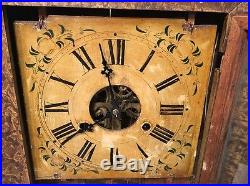 Beautiful Antique Folk Art Grain Painted Forestville Ogee Clock