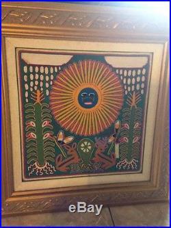 Beautiful HUICHOL Yarn Painting/Mexican Art/Folk Art