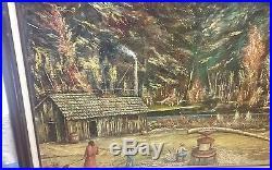 Beautiful Native Louisiana Painting. Fabulous Subject! Black Americana Folk Art