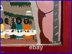 Binford Benny Carter Lord's Supper Folk Art Painting, African American