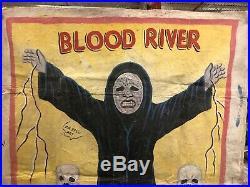 Blood River Ghana Mobil Cinema Movie Poster Hand Paint Painting Folk Art Mr Brew