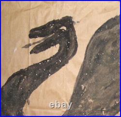 Brian Dowdall folk art painting Snake Outsider Artist Rosenak Collection